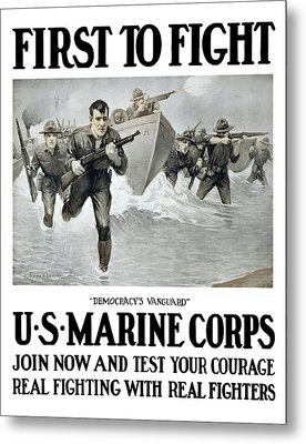Us Marine Corps - First To Fight  Metal Print