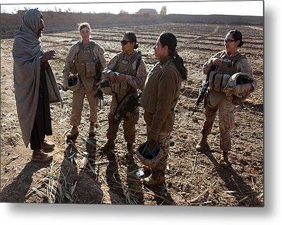 U.s. Marines In Afghanistan Assigned Metal Print by Everett