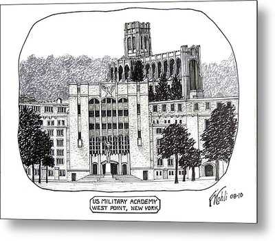 Us Military Academy At West Point Ny Metal Print by Frederic Kohli