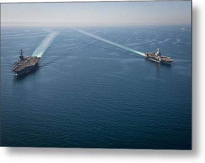 Us Navy Aircraft Carriers Metal Print