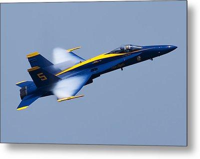 Us Navy Blue Angels High Speed Pass Metal Print by Dustin K Ryan