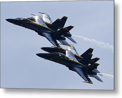 Us Navy Blue Angels In Formation Metal Print