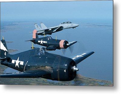 Us Navy Lagacy Flight  Metal Print by John Clark