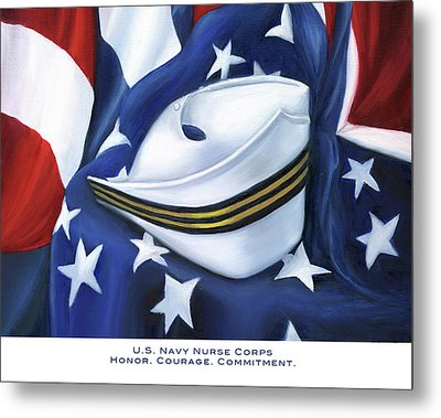 Metal Print featuring the painting U.s. Navy Nurse Corps by Marlyn Boyd