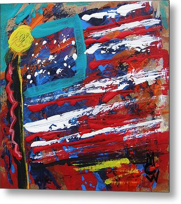 Us Of A Metal Print by Mary Carol Williams