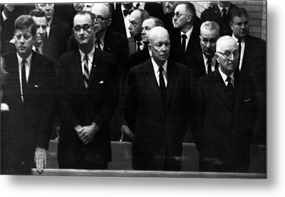 Us Presidents. From Left Us President Metal Print