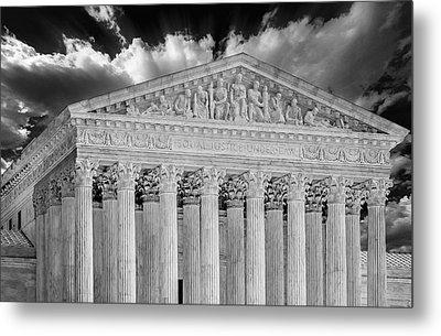 Us Supreme Court II Bw Metal Print