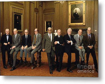 Us Supreme Court Justices Metal Print by Yoichi Okamoto