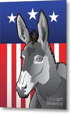 Usa Donkey Metal Print by Joe Barsin
