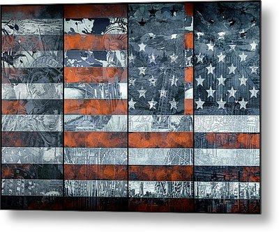 Usa Flag 12 Metal Print by Bekim Art