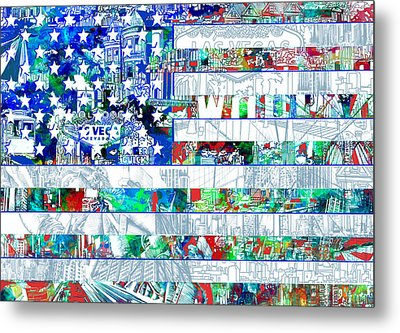 Usa Flag 14 Metal Print by Bekim Art