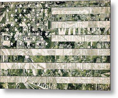 Usa Flag 15 Metal Print by Bekim Art