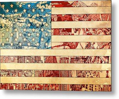 Usa Flag 2 Metal Print