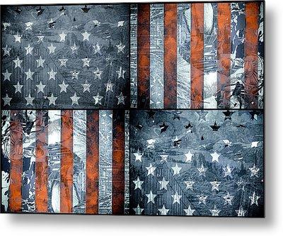 Usa Flag 7 Metal Print