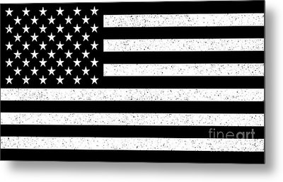 Metal Print featuring the digital art Usa Flag Hidef Super Grunge Patina by Bruce Stanfield