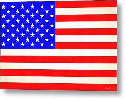 Usa Flag  - Vivid Free Style -  - Da Metal Print by Leonardo Digenio