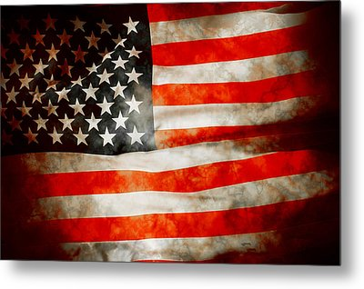 Usa Old Glory Patriot Flag Metal Print by Phill Petrovic