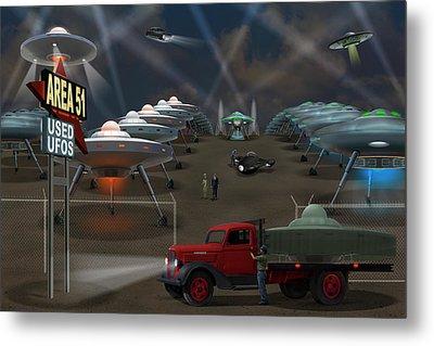 Area 51 Used U F O S Metal Print by Mike McGlothlen