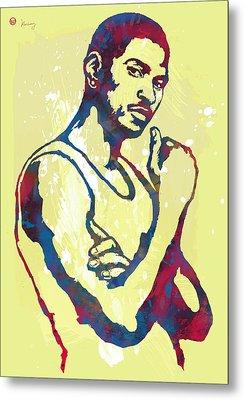 Usher Raymond Iv  -  Pop Art Sketch Poster Metal Print