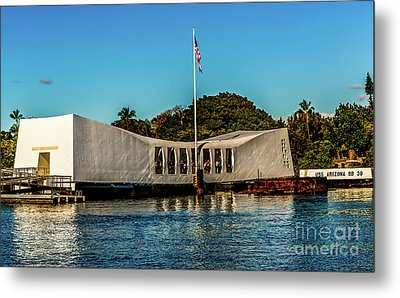 Uss Arizona Memorial Metal Print by Jon Burch Photography