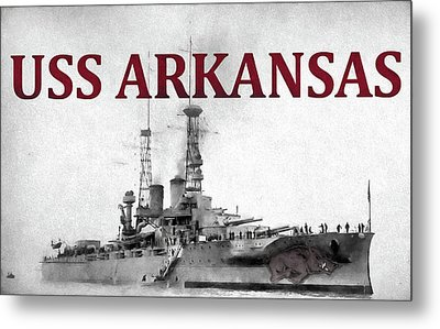 Uss Arkansas Metal Print by JC Findley