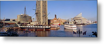 Uss Constellation, Inner Harbor Metal Print by Panoramic Images
