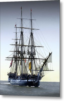 Uss Constitution Metal Print by Fred LeBlanc
