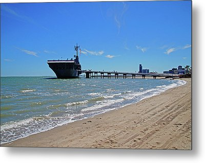 Uss Lexington Metal Print by Mike Murdock