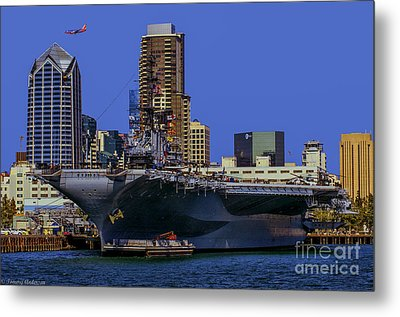 Uss Midway San Diego Ca Metal Print by Tommy Anderson