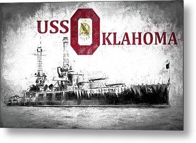 Uss Oklahoma Metal Print by JC Findley