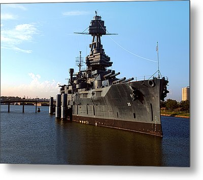 Uss Texas Metal Print by Joshua House