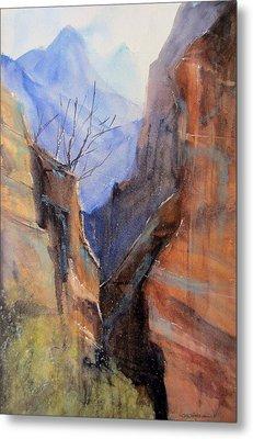 Utah Red Rocks Metal Print by Sandra Strohschein
