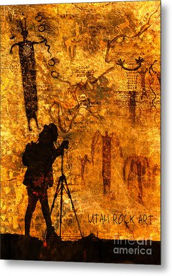 Metal Print featuring the photograph Utah Rock Art Montage by Marianne Jensen