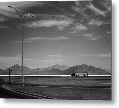 Metal Print featuring the photograph Utah Salt Flats by Art Shimamura