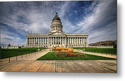 Utah State Capitol Metal Print by James Hammond