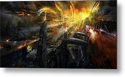Utherworlds Battlestar Metal Print