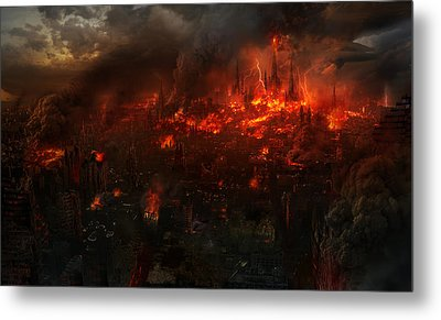 Utherworlds Reckoning Day Metal Print by Philip Straub