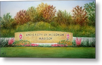 Uw Roundabout Metal Print by Thomas Kuchenbecker