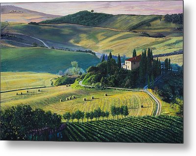 Val D'orcia Metal Print by Richard Barone