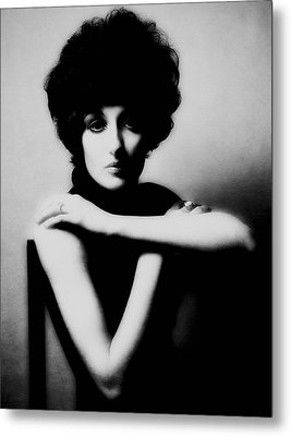 Metal Print featuring the photograph Val With Chair by Richard Wiggins