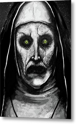 Metal Print featuring the digital art Valak The Demon Nun by Taylan Apukovska