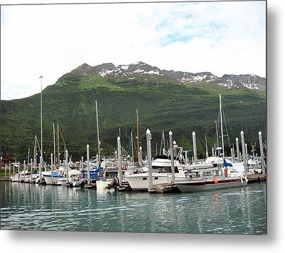 Valdez Alaska Marina Metal Print by Adam Owen