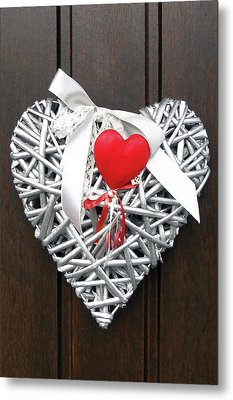 Metal Print featuring the photograph Valentine Heart by Juergen Weiss
