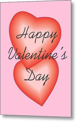 Metal Print featuring the digital art Valentine Hearts by Sherril Porter