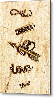 Valentine Pendants Metal Print