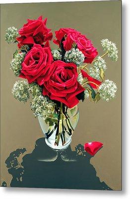 Valentine Roses Metal Print by Ora Sorensen