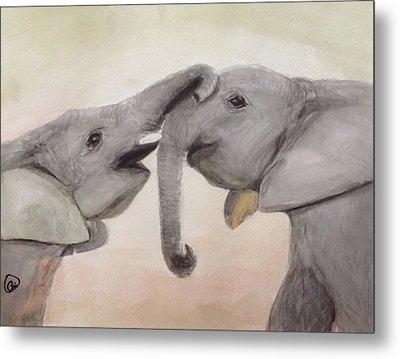 Valentine's Day Elephant Metal Print