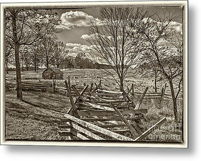 Valley Forge Military Camp Metal Print by David Zanzinger