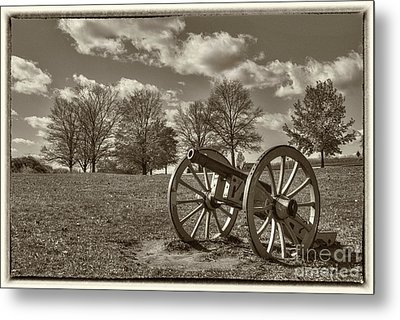 Valley Forge Military Canon Metal Print by David Zanzinger