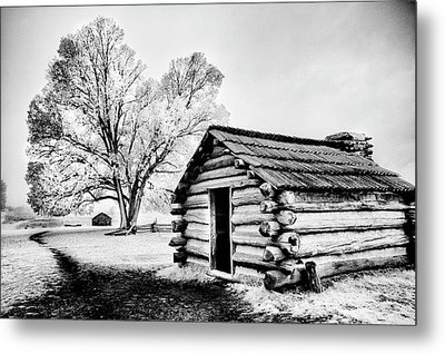 Metal Print featuring the photograph Valley Forge Winter Troops Hut                           by Paul W Faust - Impressions of Light
